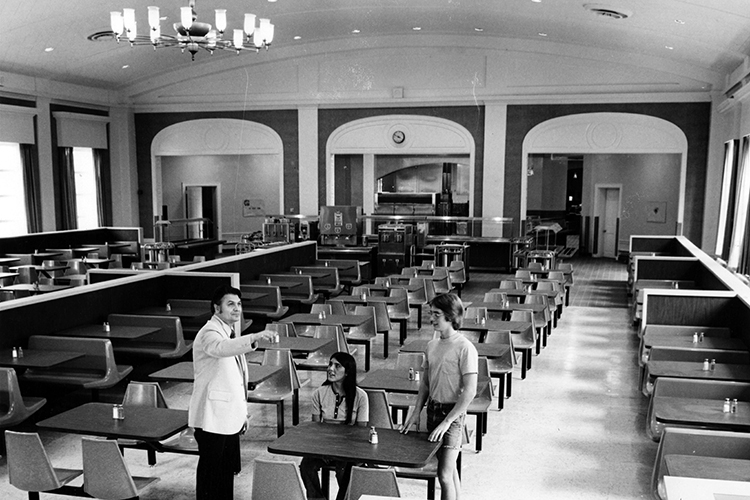 State Room Dining Hall, B&W