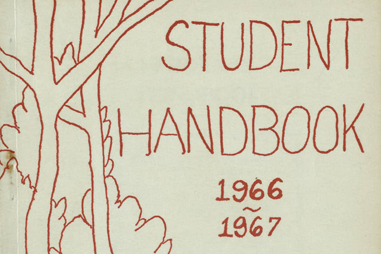 1966-67 Student Handbook cover