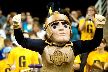 UNCG Spiro mascot