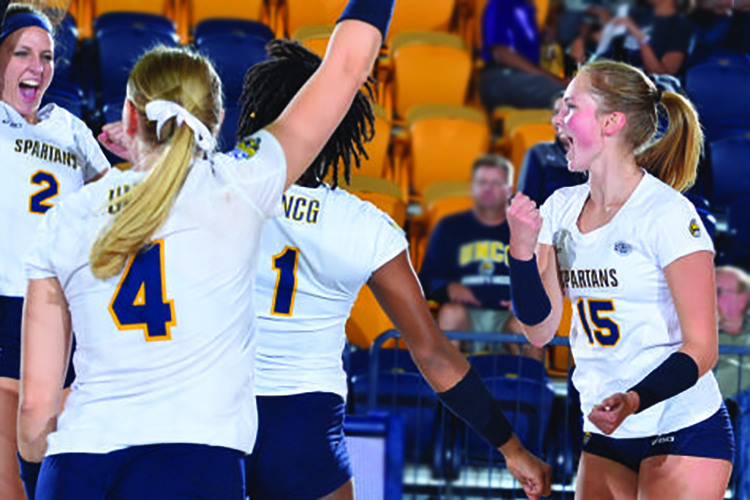 UNCG Women's volleyball team