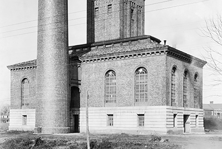 Steam plant in 1924