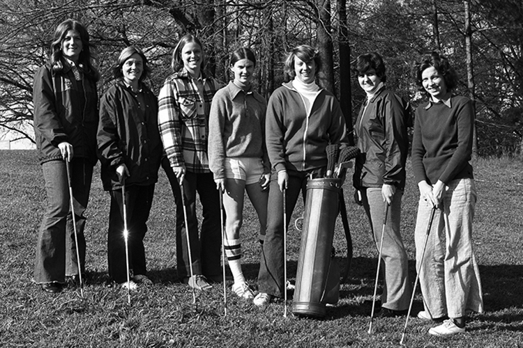 1973 Women's golf team