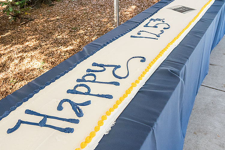 125 foot birthday cake to celebrate Founders Day 2017